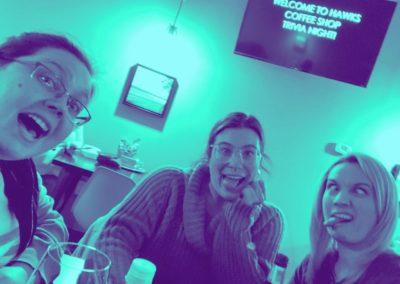 Kelsey Martin, Bri Gorman and Kristy Plucker at Trivia Night