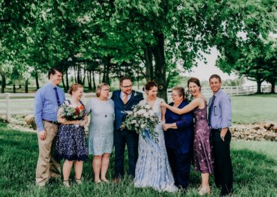 Mariah Overholt's wedding photo with family